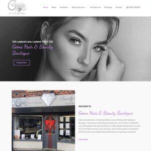 hair & beauty website design