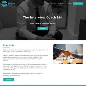 interview coaching website design