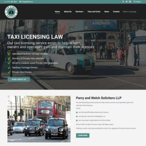 taxi law website design
