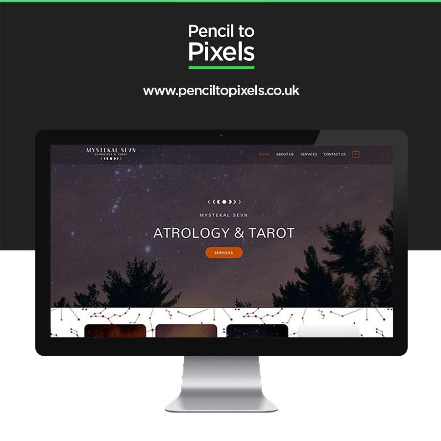 tarot website design