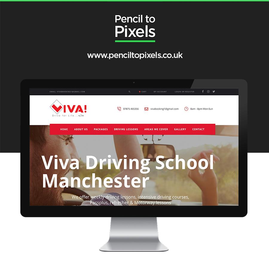 driving lessons website design