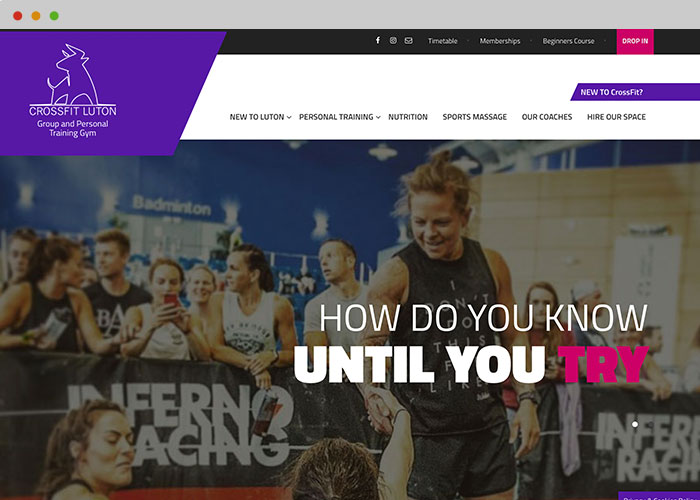 crossfit website designer
