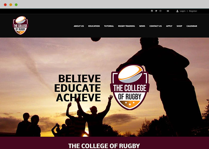rugby website builder