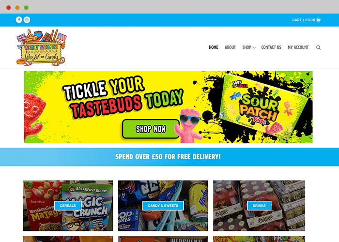 sweetshop website designer