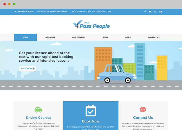driving web design